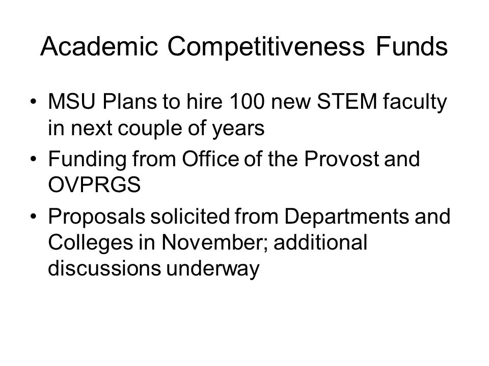 Academic Competitiveness Funds