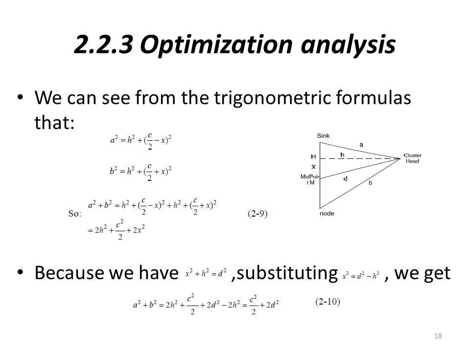 2.2.3 Optimization analysis