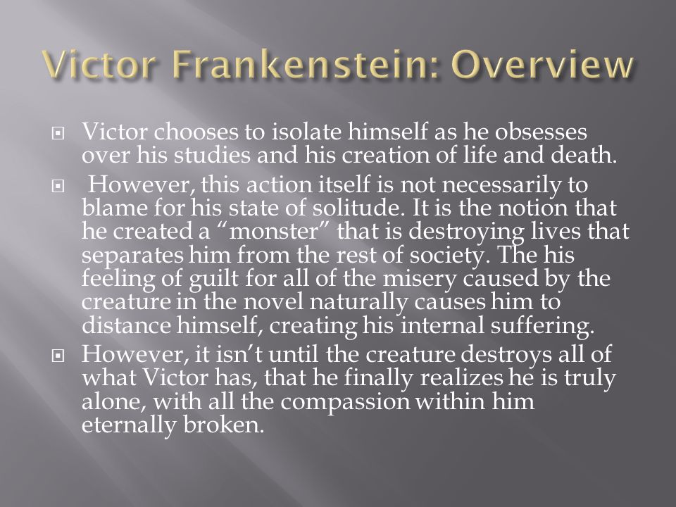 Victor Frankenstein: Overview