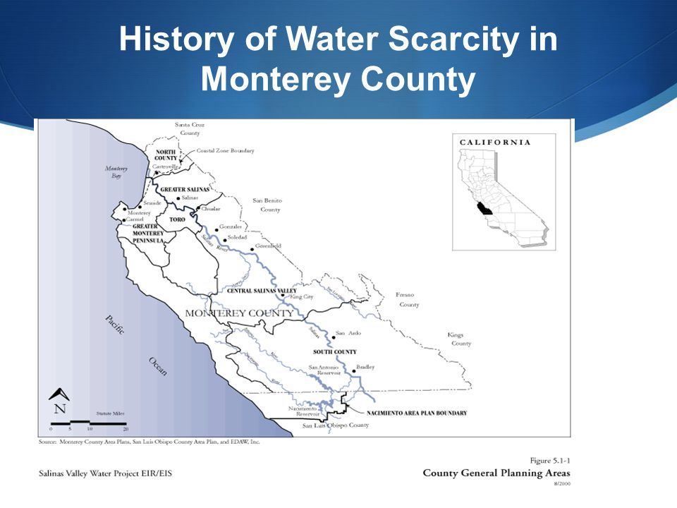 History of Water Scarcity in Monterey County