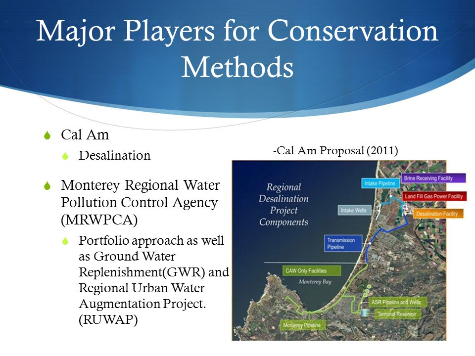 Major Players for Conservation Methods
