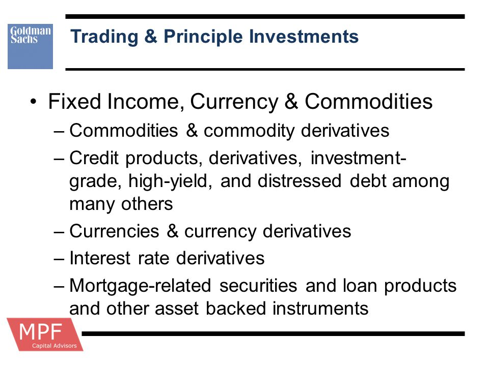 Trading & Principle Investments