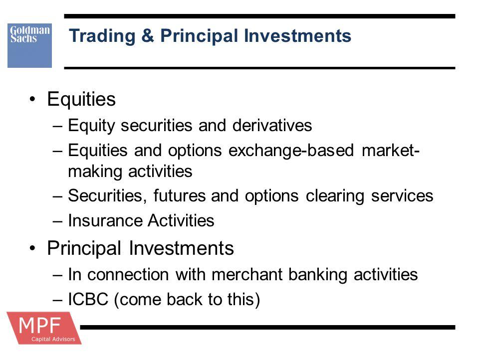 Trading & Principal Investments