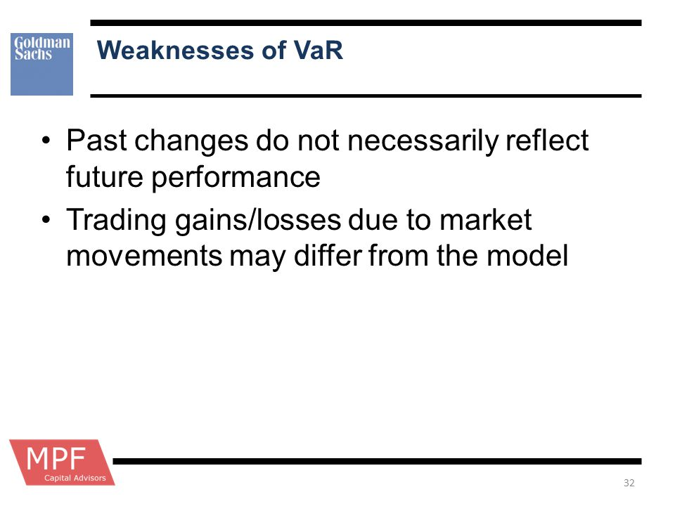 Past changes do not necessarily reflect future performance