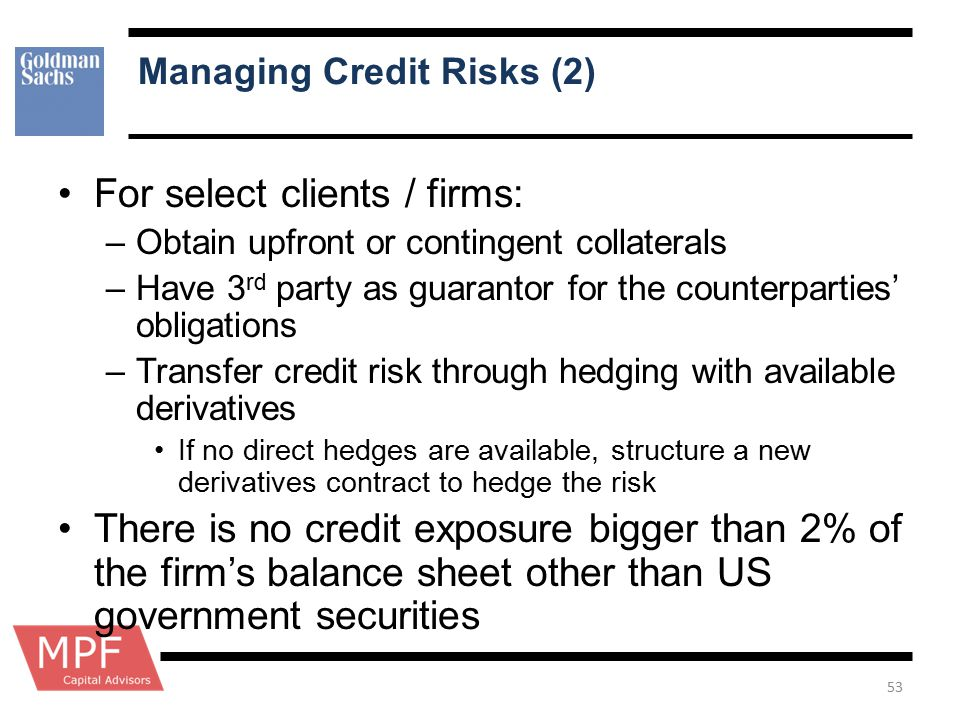 Managing Credit Risks (2)