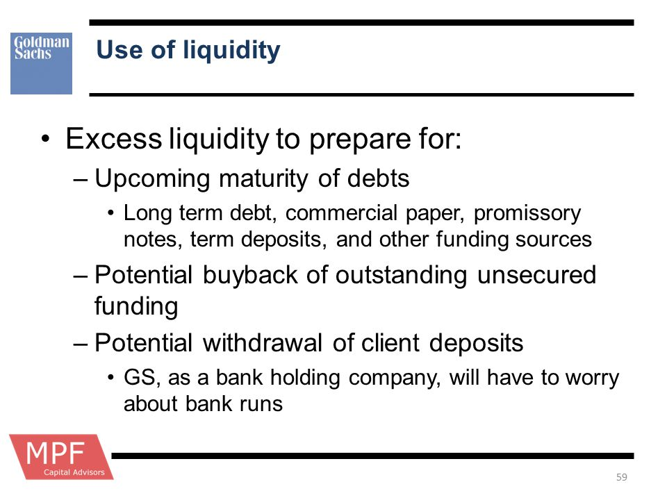 Excess liquidity to prepare for: