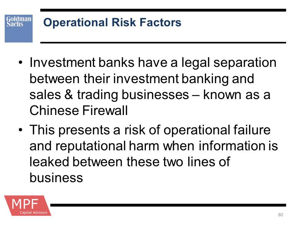 Operational Risk Factors