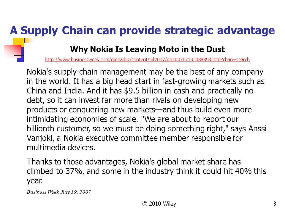 A Supply Chain can provide strategic advantage