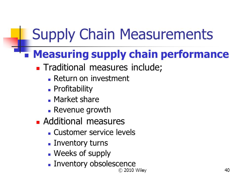 Supply Chain Measurements