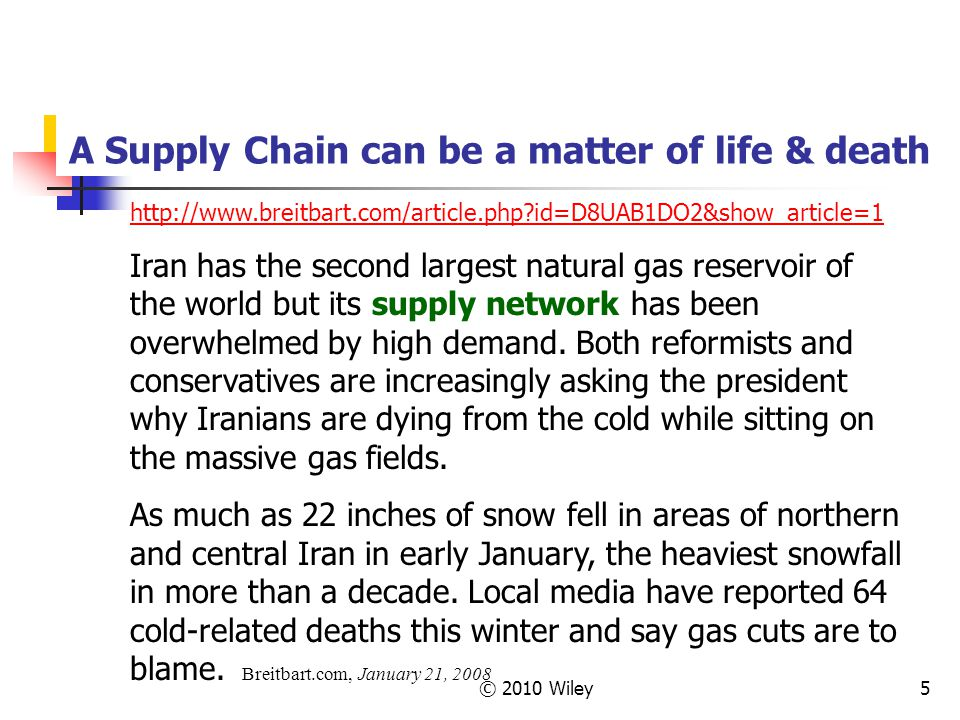 A Supply Chain can be a matter of life & death