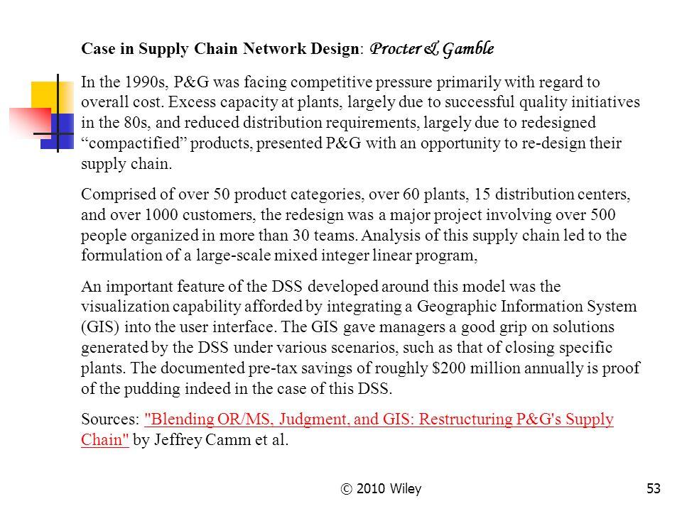 Case in Supply Chain Network Design: Procter & Gamble