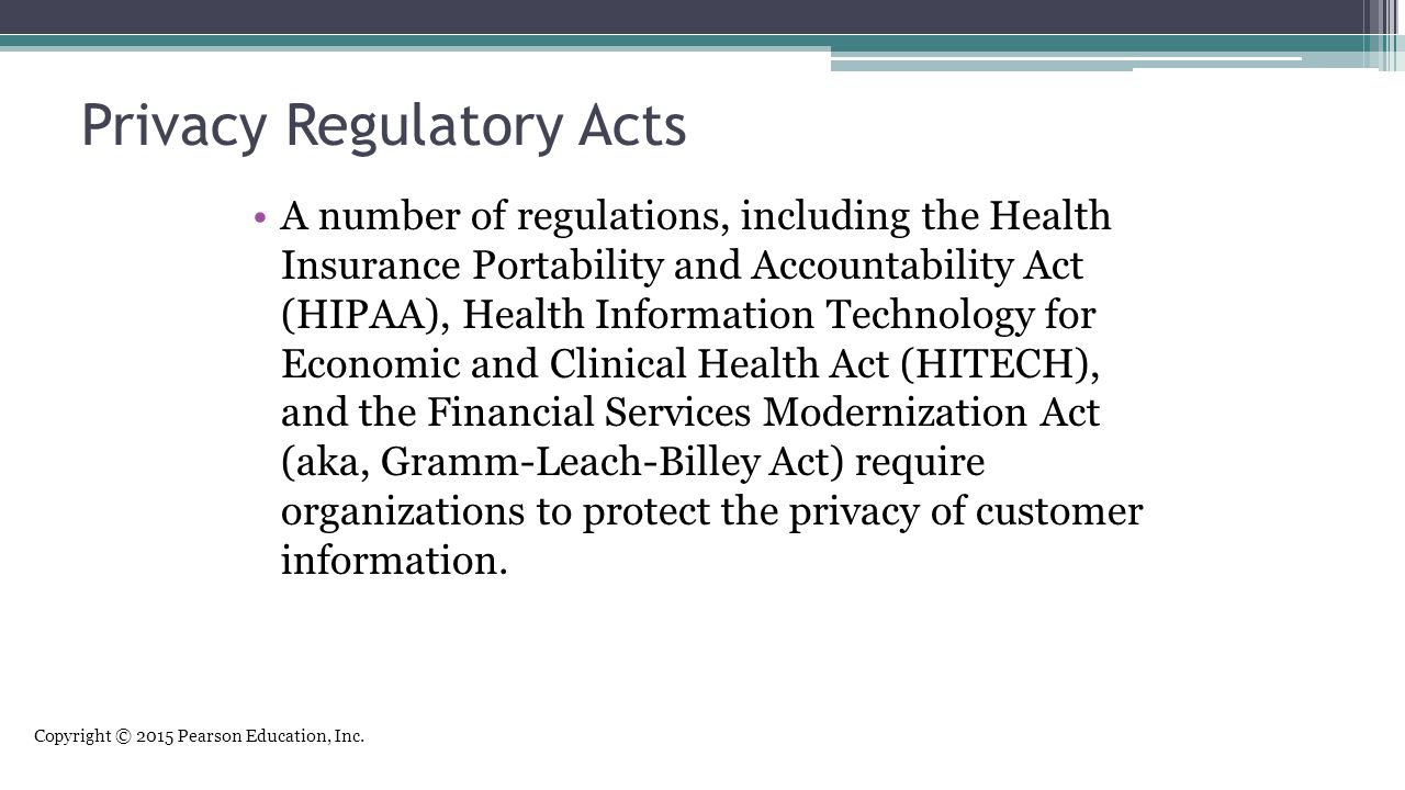 Privacy Regulatory Acts
