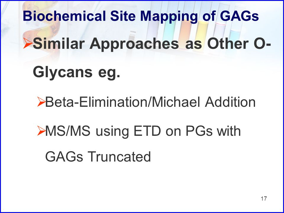 Biochemical Site Mapping of GAGs