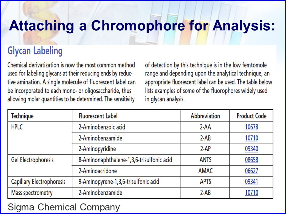 Attaching a Chromophore for Analysis: