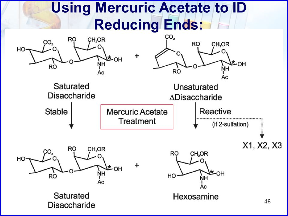 Using Mercuric Acetate to ID Reducing Ends: