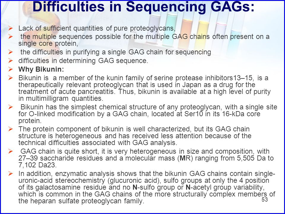 Difficulties in Sequencing GAGs: