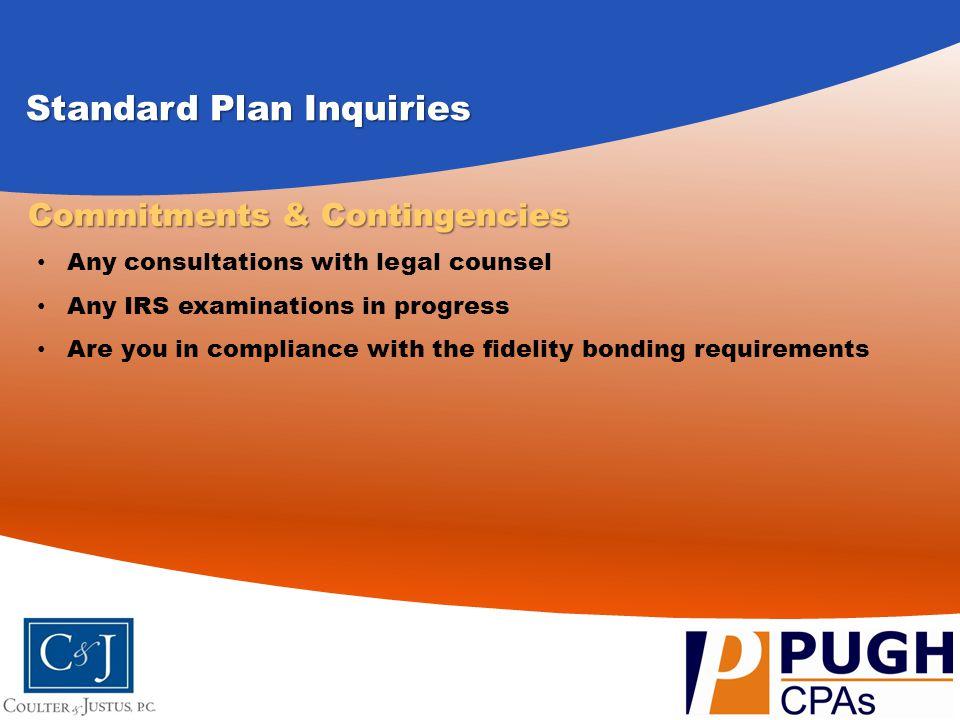 Standard Plan Inquiries