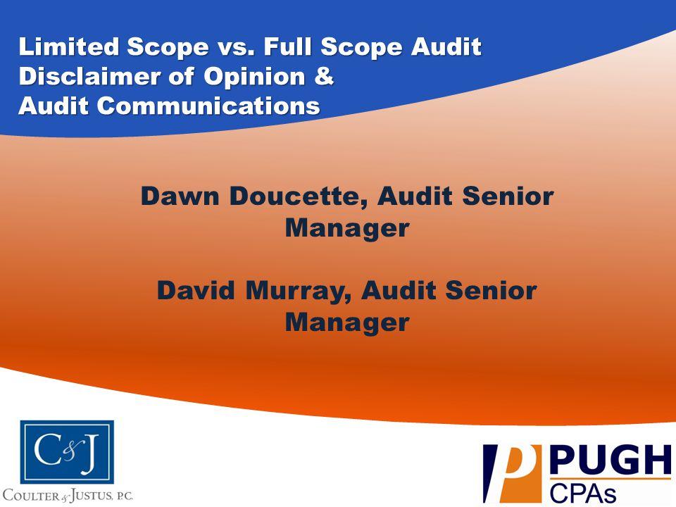 Dawn Doucette, Audit Senior Manager