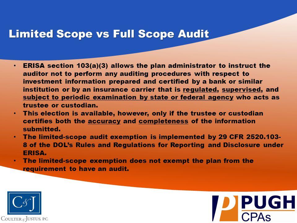 Limited Scope vs Full Scope Audit