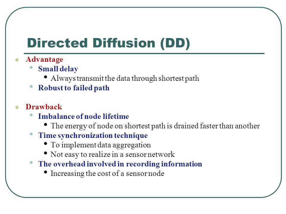 Directed Diffusion (DD)