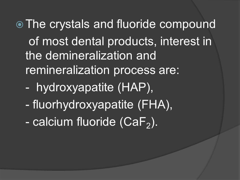 The crystals and fluoride compound