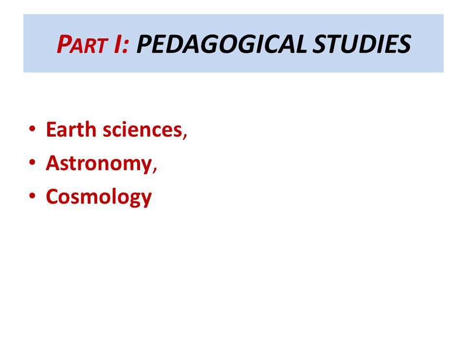 Part I: PEDAGOGICAL STUDIES