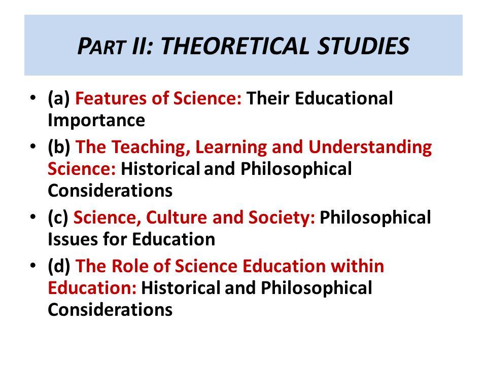 Part II: THEORETICAL STUDIES