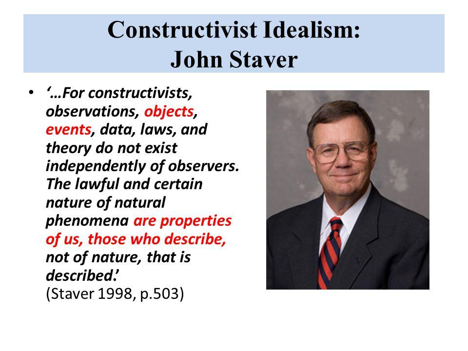 Constructivist Idealism: John Staver
