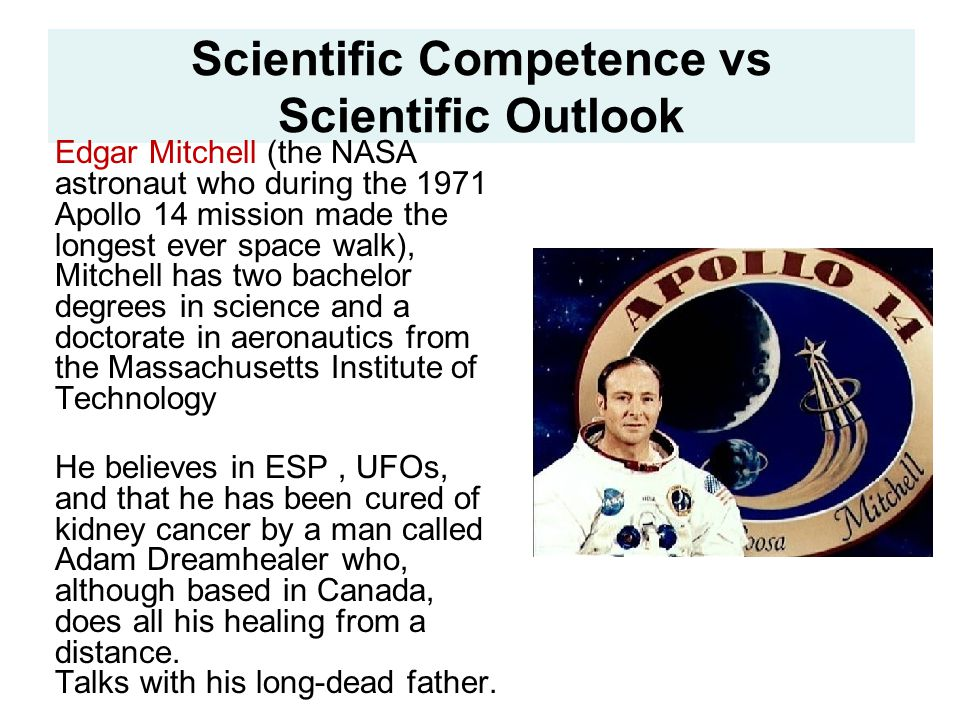 Scientific Competence vs Scientific Outlook
