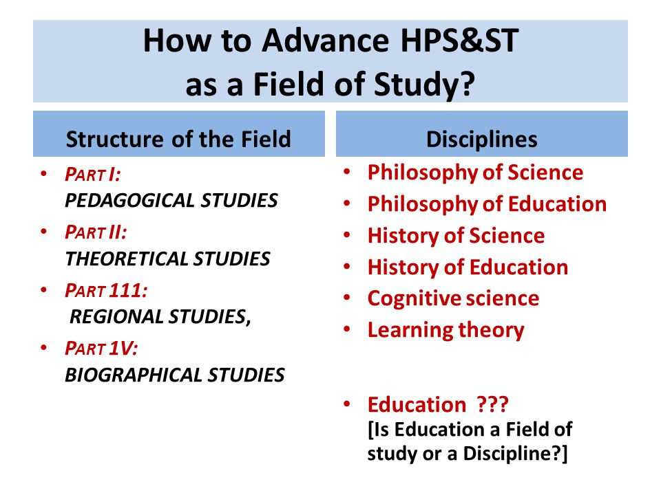 How to Advance HPS&ST as a Field of Study