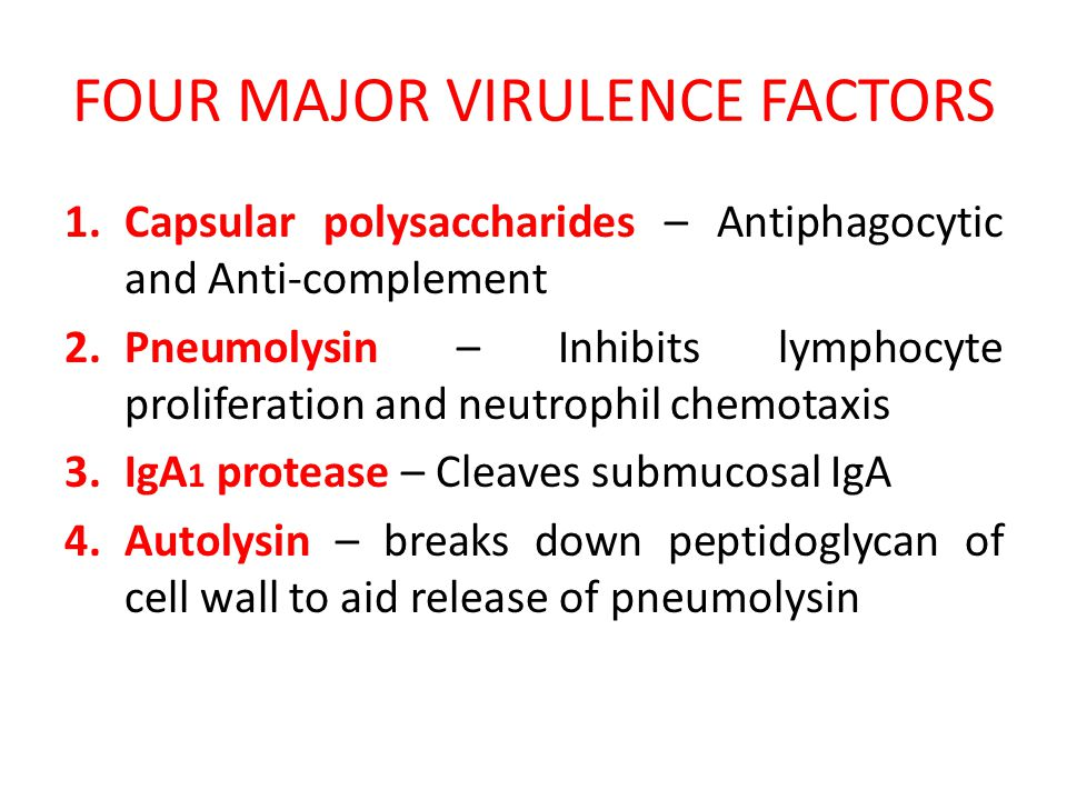 FOUR MAJOR VIRULENCE FACTORS