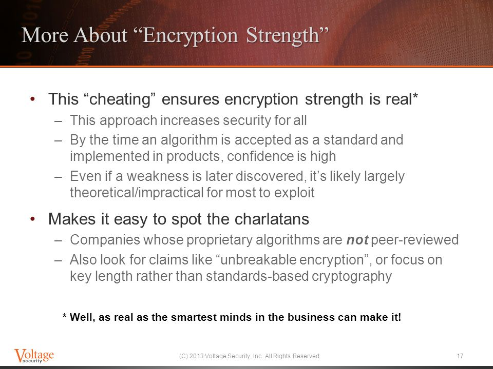More About Encryption Strength