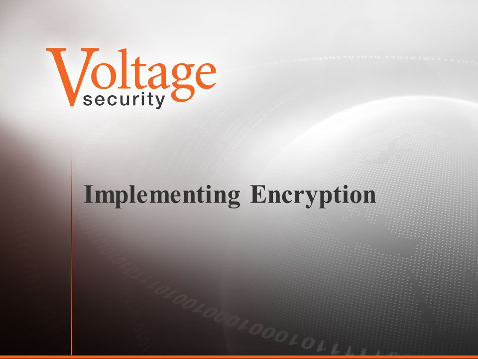 Implementing Encryption