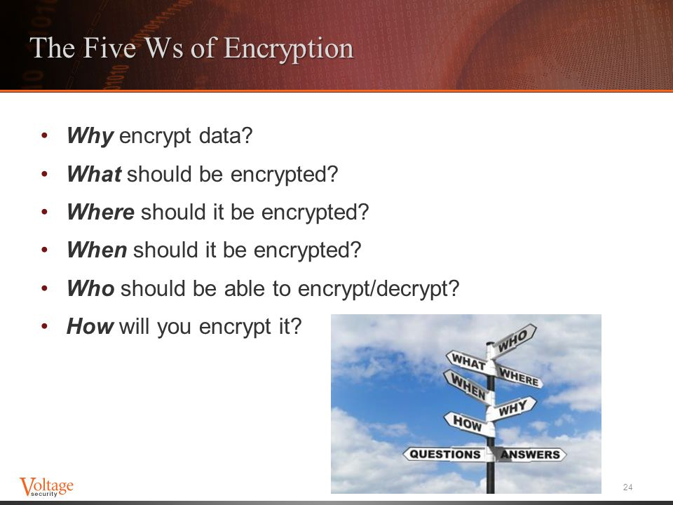 The Five Ws of Encryption