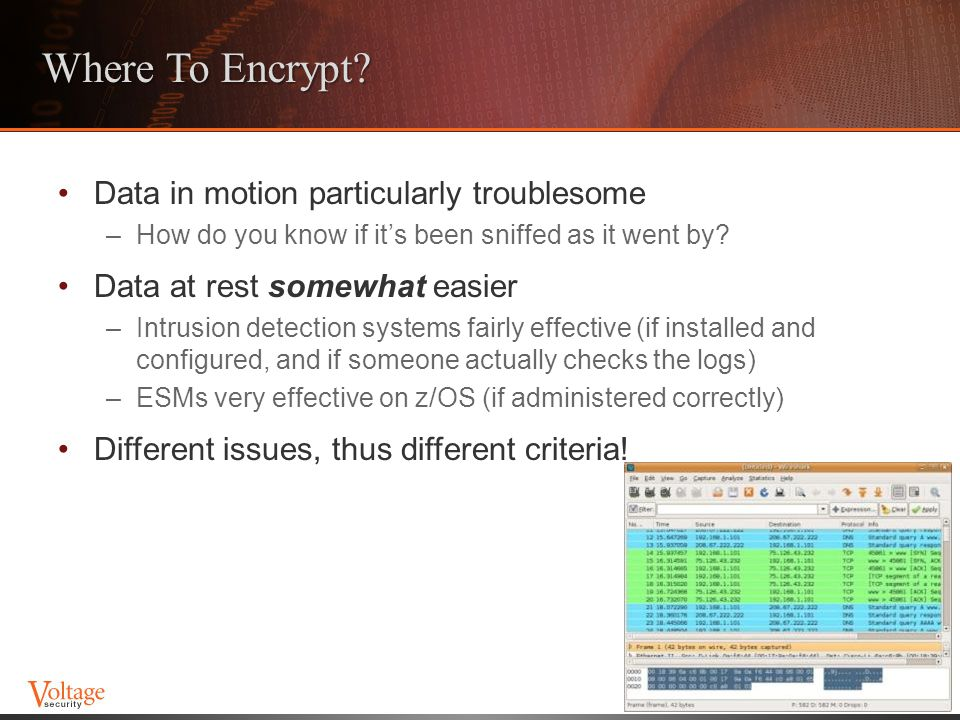 Where To Encrypt Data in motion particularly troublesome