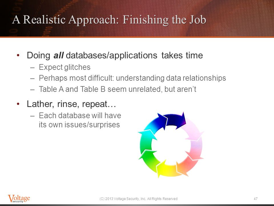 A Realistic Approach: Finishing the Job