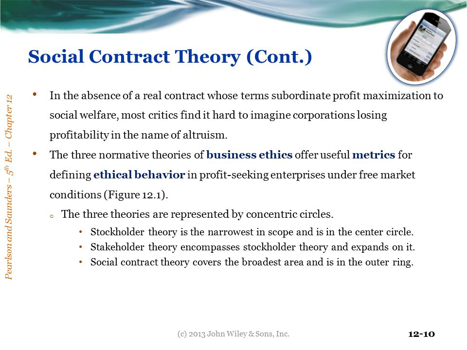 Social Contract Theory (Cont.)