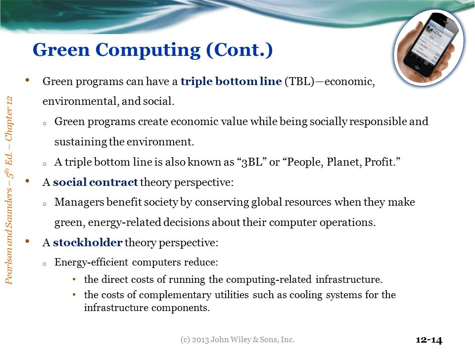 Green Computing (Cont.)