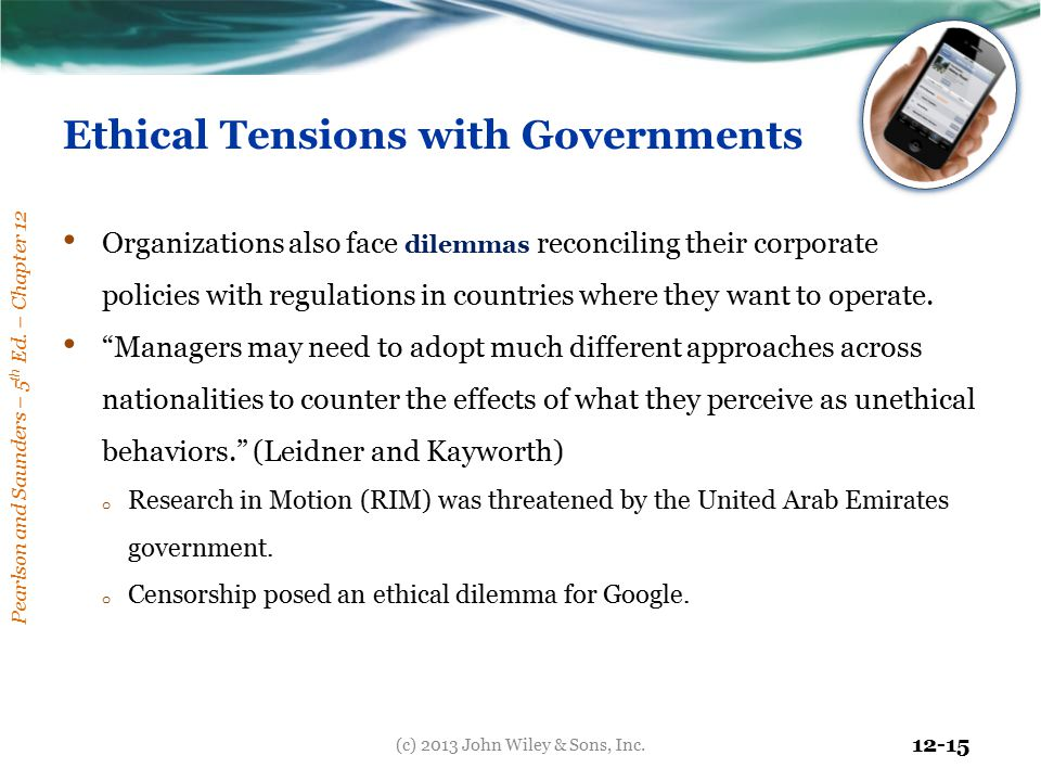 Ethical Tensions with Governments