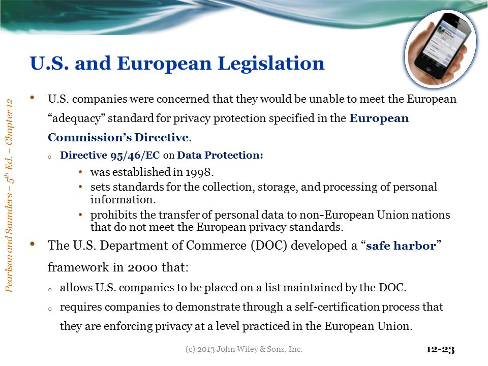 U.S. and European Legislation