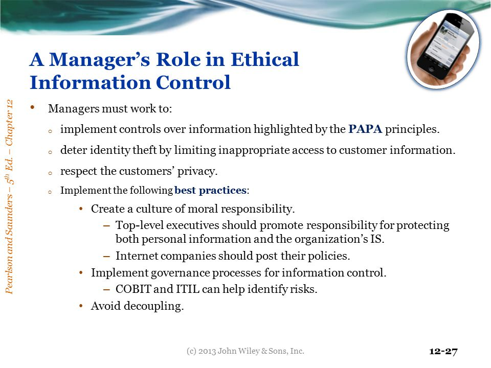 A Manager's Role in Ethical Information Control
