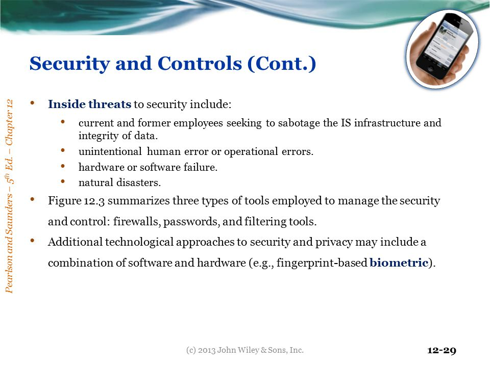 Security and Controls (Cont.)
