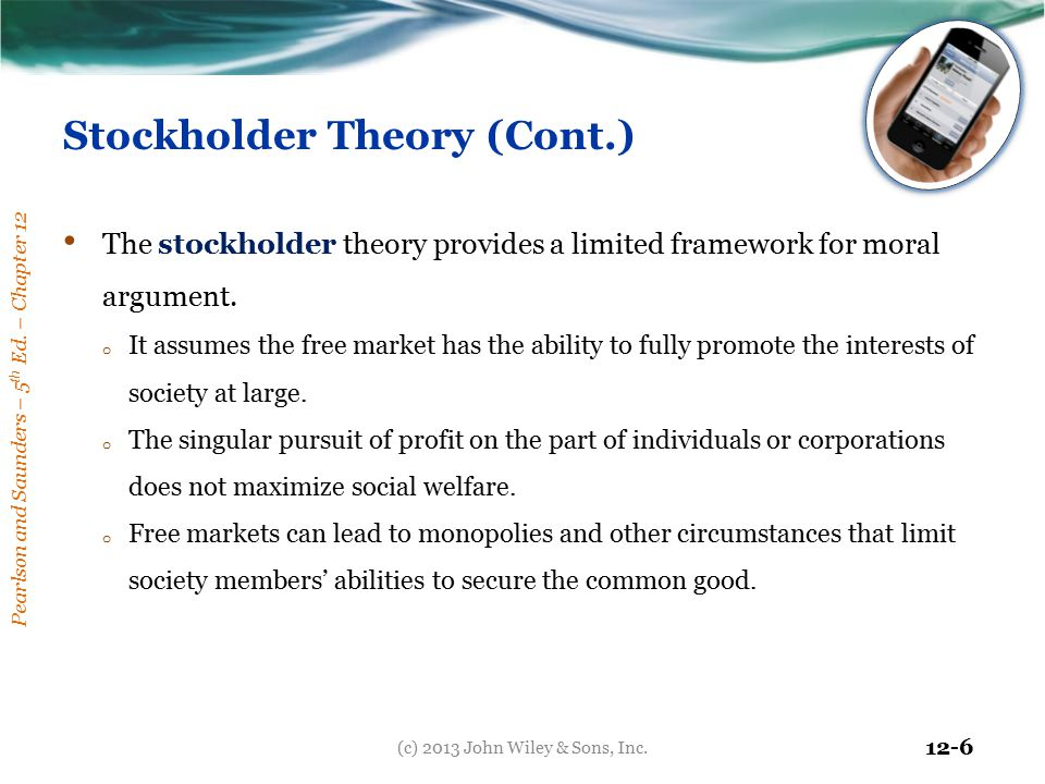 Stockholder Theory (Cont.)