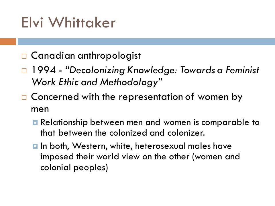 Elvi Whittaker Canadian anthropologist