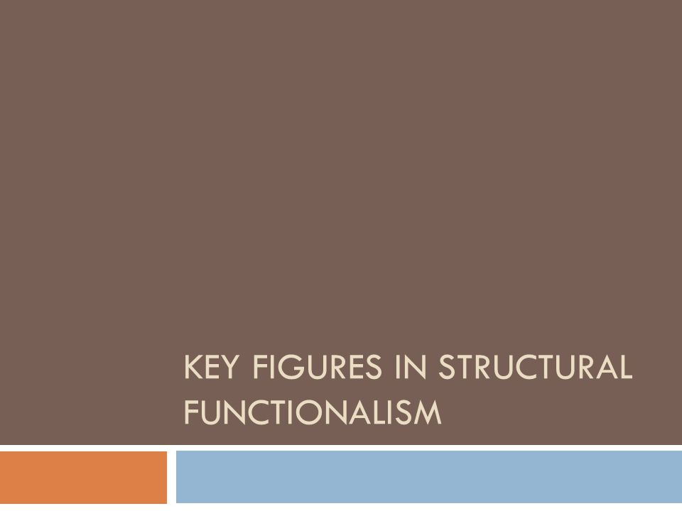 Key Figures in Structural functionalism