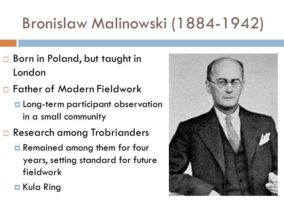 Bronislaw Malinowski (1884-1942)