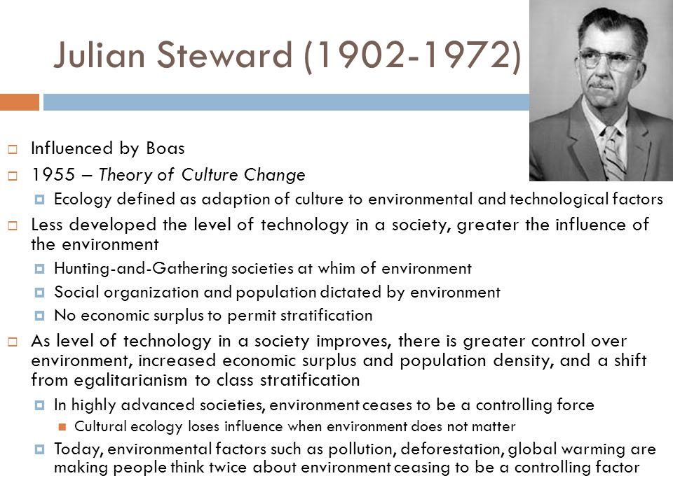 Julian Steward (1902-1972) Influenced by Boas
