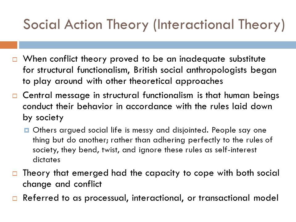 Social Action Theory (Interactional Theory)
