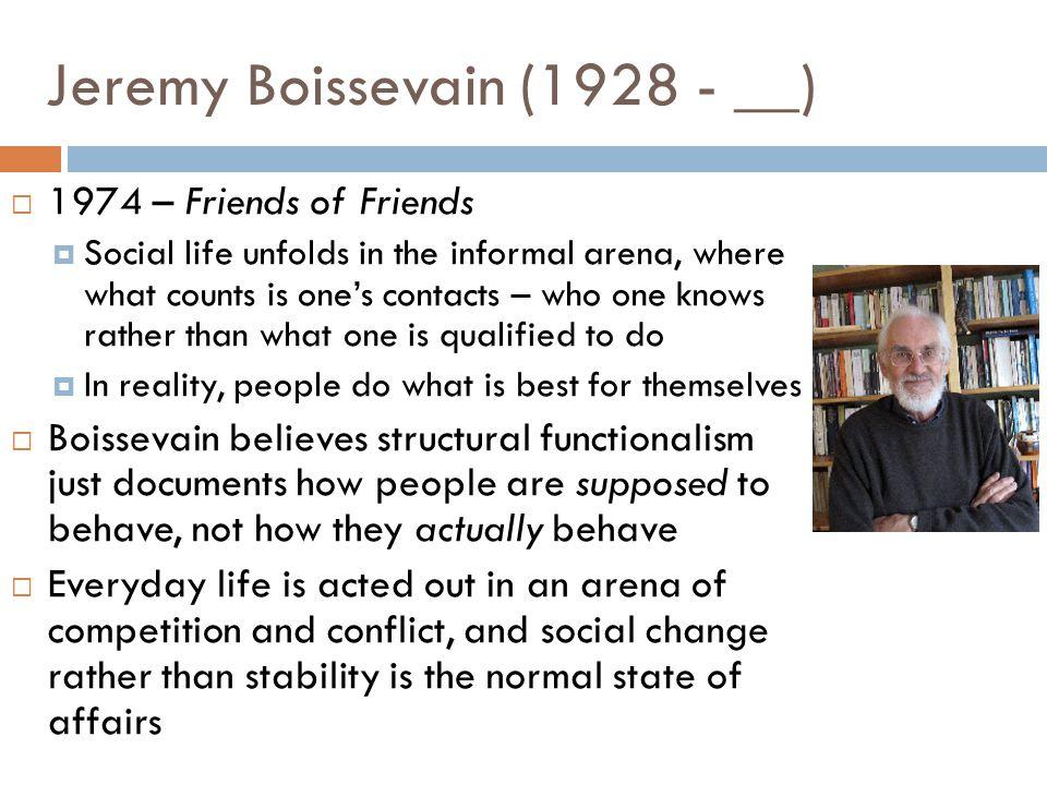 Jeremy Boissevain (1928 - __)