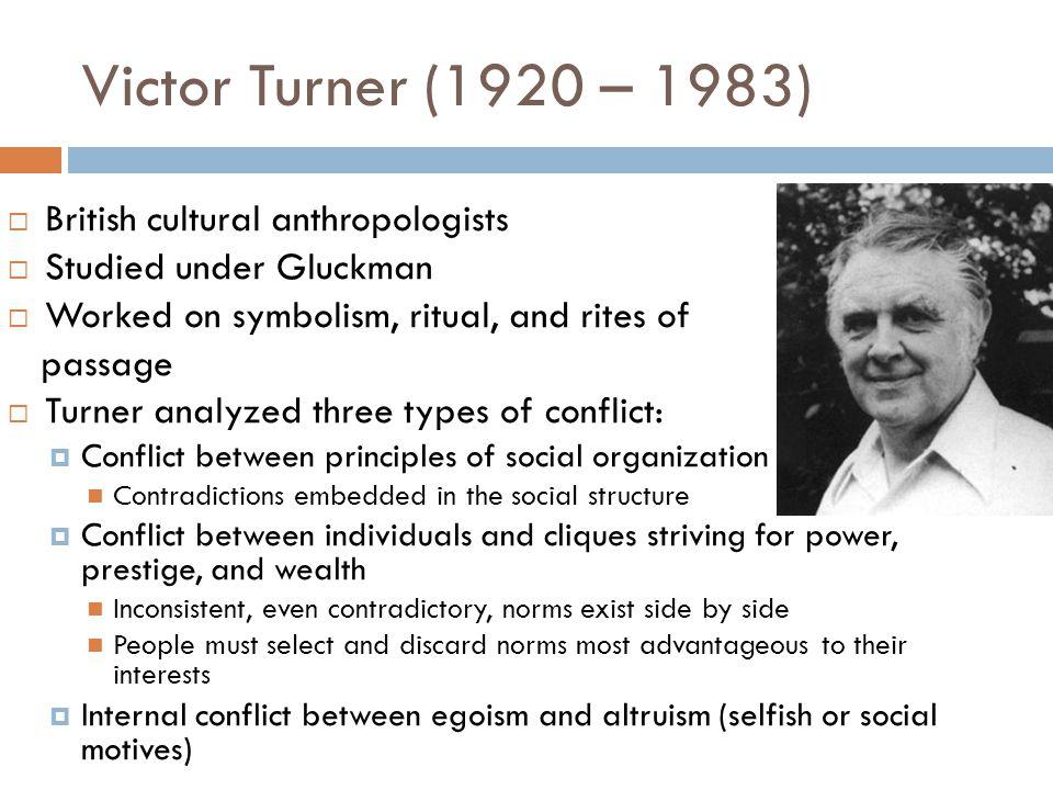 Victor Turner (1920 – 1983) British cultural anthropologists